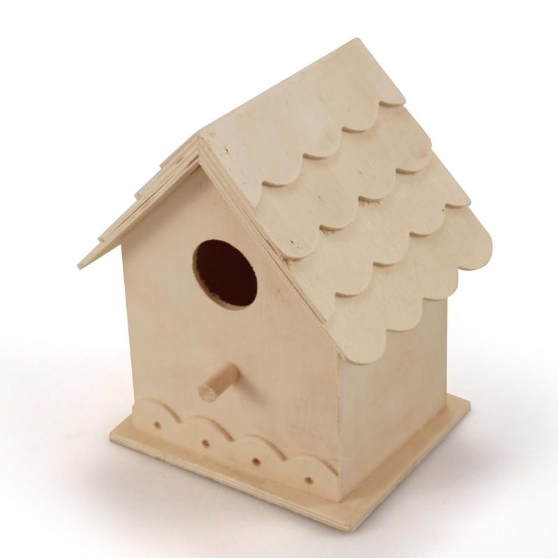 Casa de p jaros de madera 100 ecol gica palmoapalmo - Casa para pajaros ...
